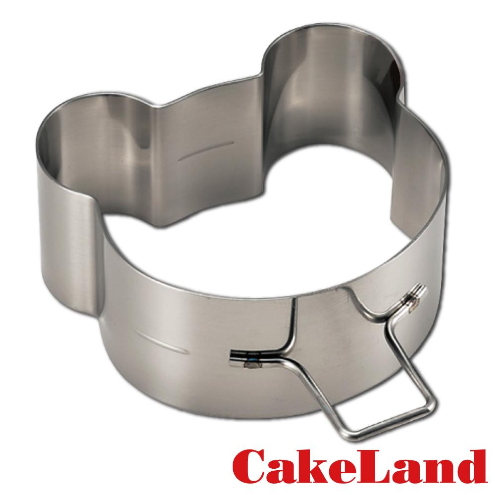 日本CakeLand 麵包蛋糕不鏽鋼深型煎烤模-小熊(日本製)