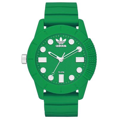 adidas 曠世潮流休閒時尚腕錶-全淺綠/45mm