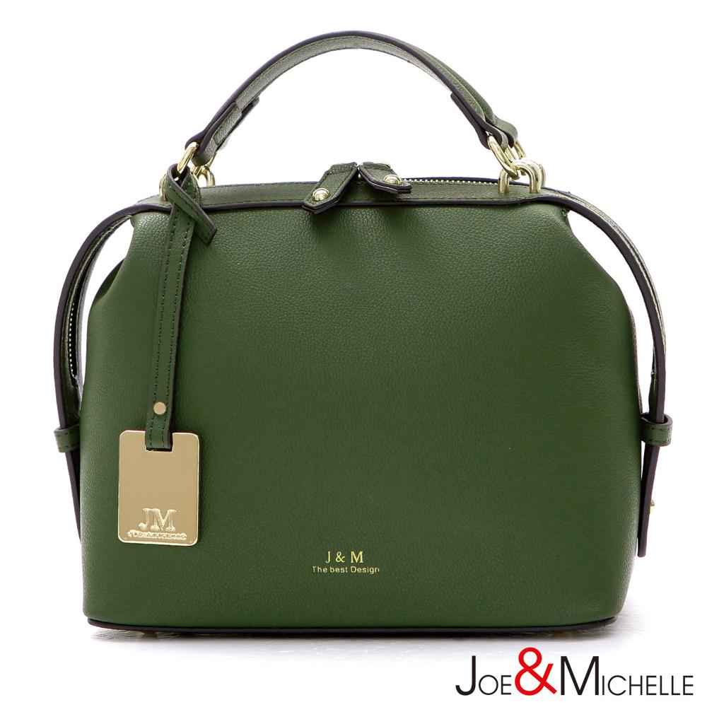 J&M 真皮瑞娜波士頓吊牌包  橄欖綠