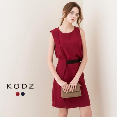 東京著衣-KODZ 不對稱造型小洋裝-S.M(共二色)