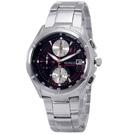 WIRED 日系型男精緻時尚三眼計時腕錶(AGAV025)-深紅炫光 /40mm
