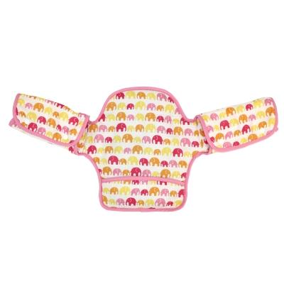 日本 LUCKY (揹巾專用)展翅飛翔360度環繞式口水墊(粉紅大象)