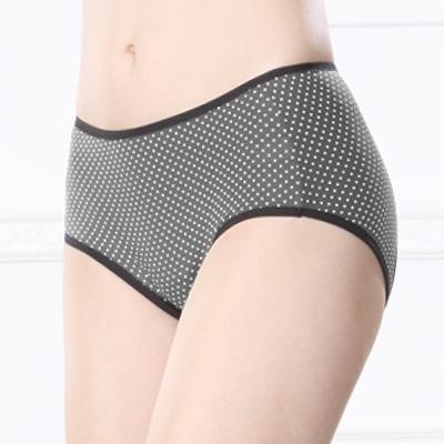 生理內褲 俏皮點點透氣M-XL生理褲 優雅灰 可蘭霓Clany