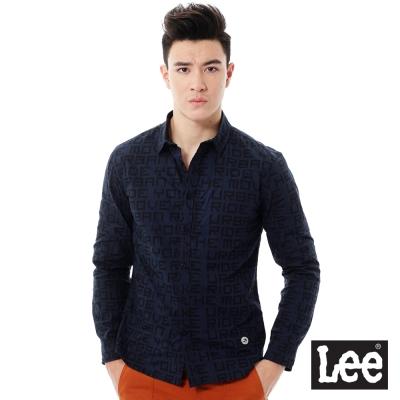 Lee Urban Rider  印花長袖襯衫-男款-藍