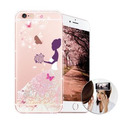 EVO反重力 iPhone 6s PLUS 亮粉空壓手機殼(蝴蝶禮服)