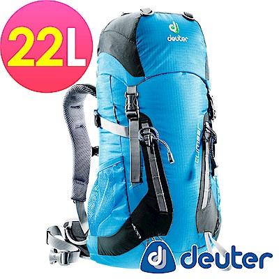 【ATUNAS 歐都納】德國DEUTER 登山休閒旅遊拔熱背包22L/36073天藍灰