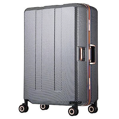 日本 LEGEND WALKER 6703N-64-26吋 寶貝輪秤重箱 碳纖星空藍