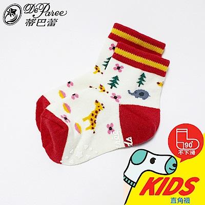 蒂巴蕾 KIDS 直角1/2襪-森林