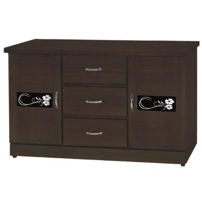 品家居 森繪4.5尺胡桃色收納餐櫃