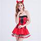 角色扮演 俏麗小魔 惡魔萬聖節派對表演服(紅F) AngelHoney天使霓裳 product thumbnail 1