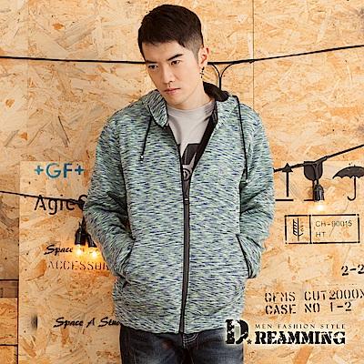 Dreamming 街頭風潮混色保暖搖粒絨彈力連帽外套-共二色
