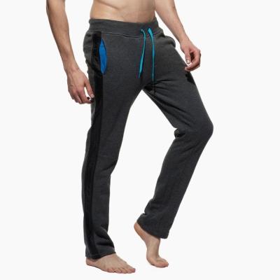 PS 特色口袋側邊線條窄版貼身長褲(深麻灰色)