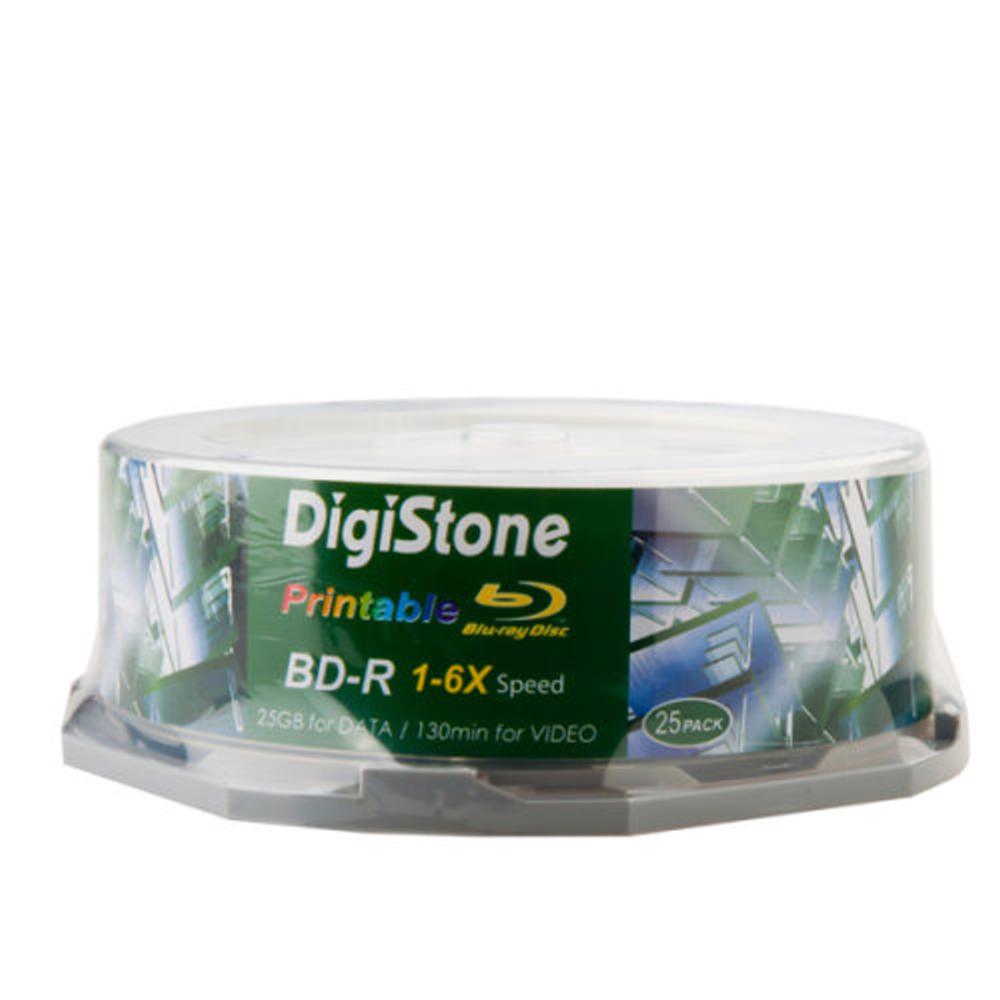 DigiStone 精選藍光6X BD-R 25GB 滿版可印 桶裝 (100片)