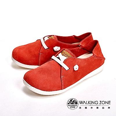 WALKING ZONE 台灣製可踩腳兩穿懶人休閒女鞋-紅(另有藍)