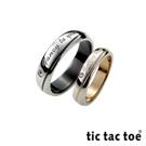 tic tac toe 迷戀你白鋼情侶對戒
