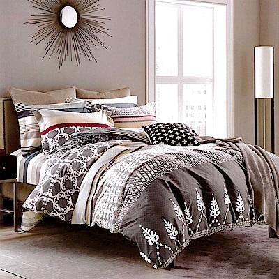 生活提案 純棉涼被床包組 特大四件組 星夢奇?灰