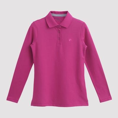 Hang Ten - 女裝 - 經典美式純色POLO衫 - 粉紅