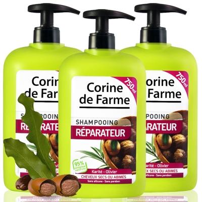 法國黎之芙 乳木果油受損修護洗髮乳750ml三入