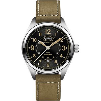 Hamilton KHAKI FIELD卡其野戰機械腕錶-黑x軍綠/42mm