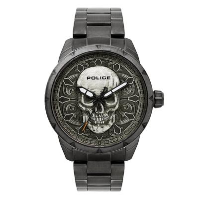 POLICE 硬漢暗黑潮流腕錶-15397JSU-57M