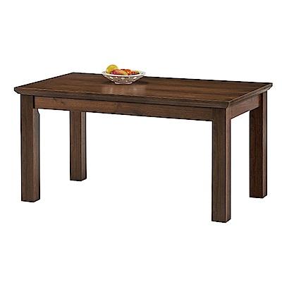 品家居 爾娜4.3尺木紋餐桌(二色可選)-130x85x75cm免組