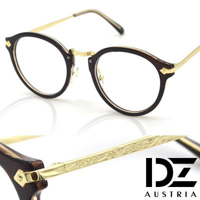 DZ-金秀賢款-古典雕花-平光眼鏡-深咖系