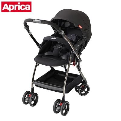 APRICA 四輪自動定位導向型嬰幼兒手推車 Optia新視野 酷點黑