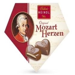 奧地利莫札特禮盒-愛心造型黑巧克力3入裝