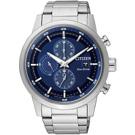 CITIZEN 光動能 競速潮流三眼計時腕錶(CA0610-52L)-藍/43mm