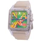 NBA 美國職籃  拼出趣味日期顯示方形腕錶-43mm