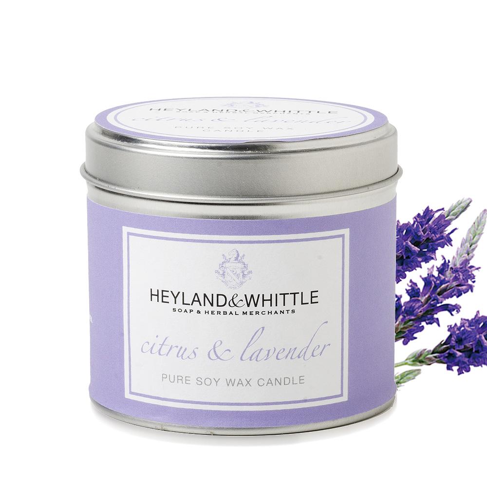 H&W英倫薇朵 柑橘薰衣草香氛燭罐 180g