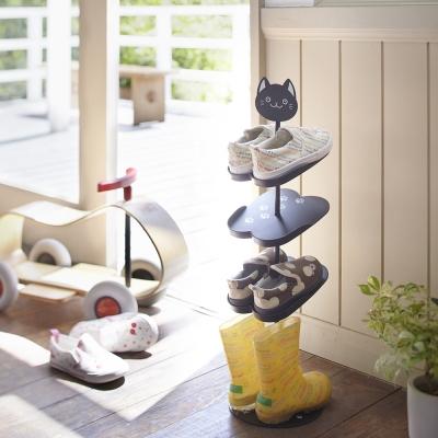 【YAMAZAKI】KIDS可愛動物鞋架-貓★鞋櫃/鞋子收納/居家收納