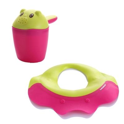 babyhood 寶寶安心沐浴組 含可達鴨洗髮帽 洗頭杯各1入