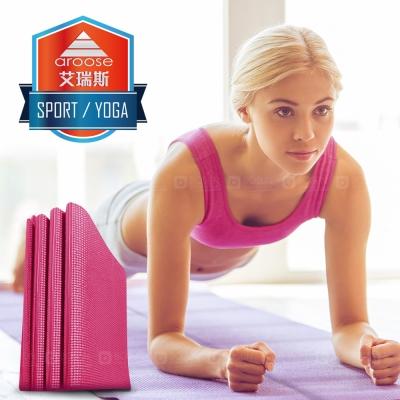 aroose 艾瑞斯-可折疊6mm雙面止滑加厚方便攜帶瑜珈墊-蜜桃紅(贈提袋)-快速到貨