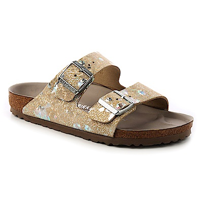 勃肯BIRKENSTOCK 1006739。亞利桑那 經典二條拖鞋(閃亮銀)