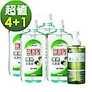 台塑生醫Drs Formula 洗寶環保洗潔精*4瓶+果蔬淨*1瓶