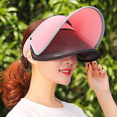 Decoy 機能透氣 雙層防曬彈性掀蓋遮陽帽 紅