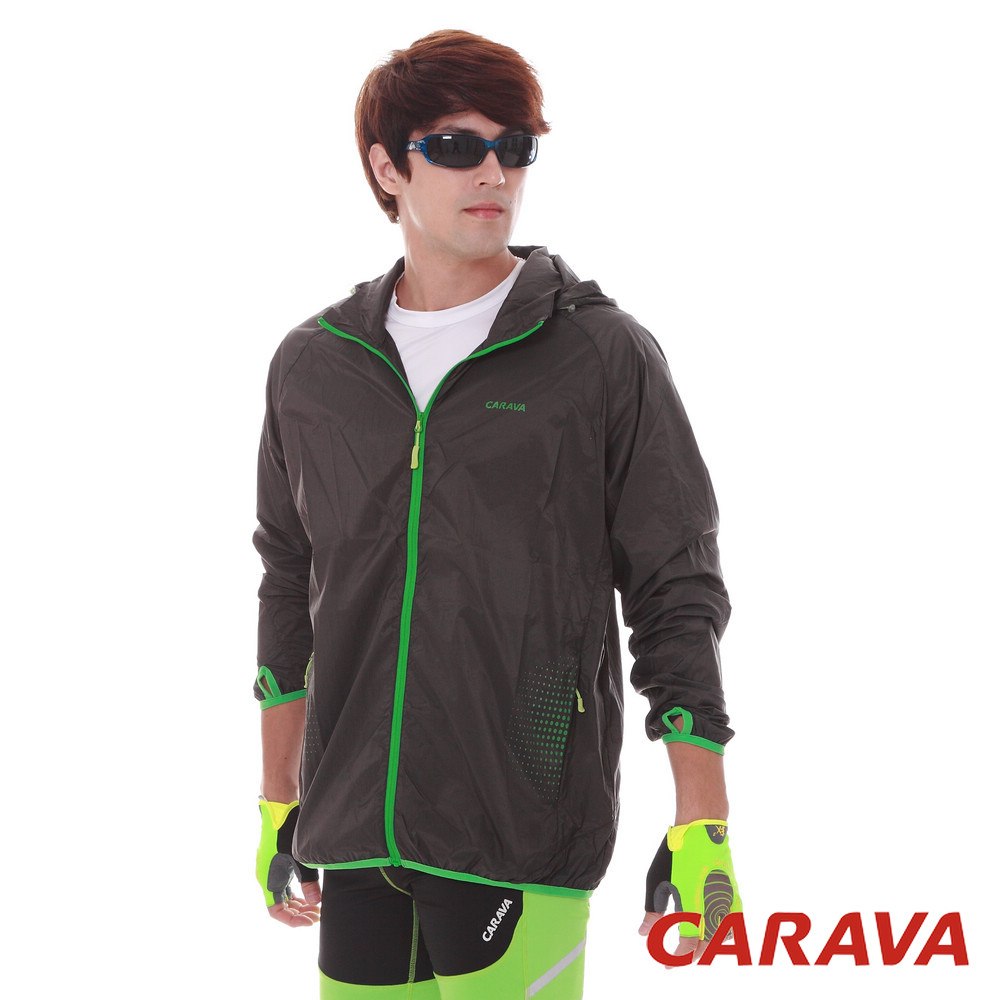 CARAVA《男款防曬透氣風衣》(深灰)
