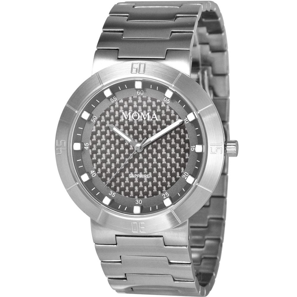 MOMA 疾速天時碳纖維潮流腕錶-鐵灰/41mm