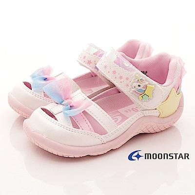 日本月星頂級童鞋 2E護趾涼鞋款 TW2041白(小童段)