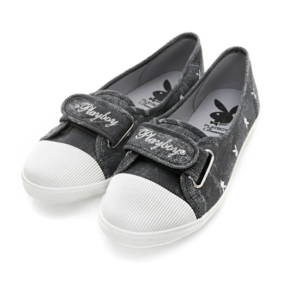 PLAYBOY 悠閒時光 率性輕便單寧風便鞋-黑