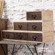 CiS自然行實木家具 收納盒-工業風-分類-收納組M款(胡桃咖啡色) product thumbnail 1