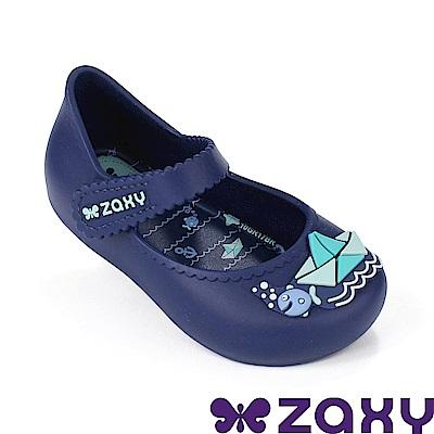 Zaxy 巴西 寶寶童趣郊遊休閒娃娃鞋-海軍藍