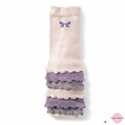 Japan Imports 白紫灰漸層抓皺款彈性手襪套