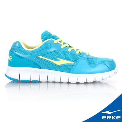 ERKE 鴻星爾克。女運動綜訓慢跑鞋-河藍