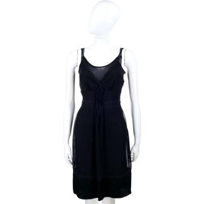 PHILOSOPHY 黑色蕾絲拼接細肩帶洋裝