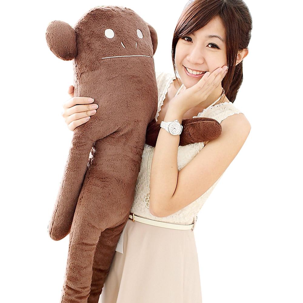 YOYOGO CRAFTHOLIC 素色咖啡小猴大抱枕