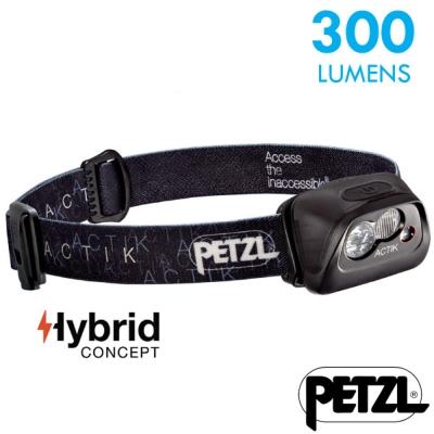 【法國 Petzl】新款 ACTIK 超輕量高亮度頭燈(300流明)_黑