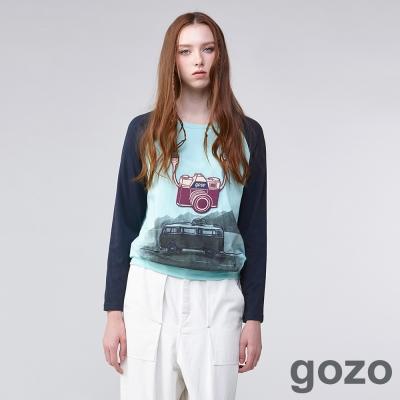 gozo攝影家懷舊生活玩色上衣(二色)-動態show