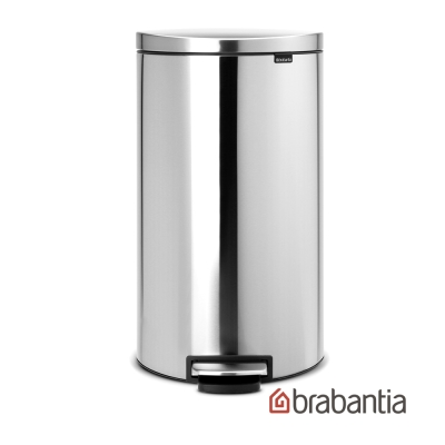 Brabantia Flatback半月腳踏式垃圾桶30L-防指紋